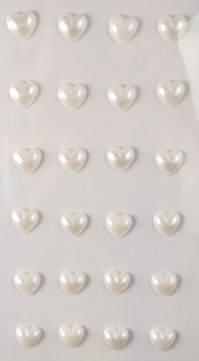 YD sydänhelmitarrat valkea 8mm 24kpl