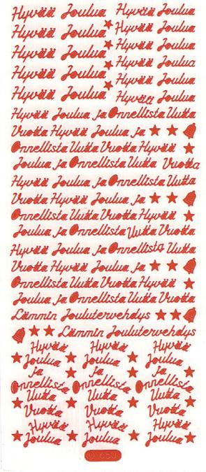 ÄT pienet joulutekstit punainen 1650