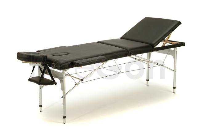 Kannettava hierontapöytä alumiinirunko musta