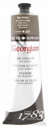 Georgian öljyväri 75ml, 247 Raw Umber