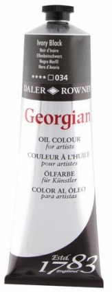 Georgian öljyväri 75ml, 034 Ivory Black