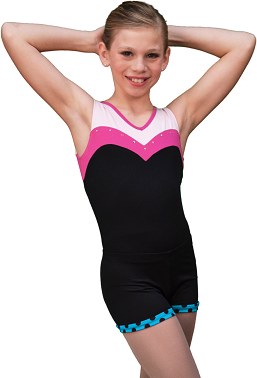 ChloeNoel Skating Shortsit (Turquoise Dots)