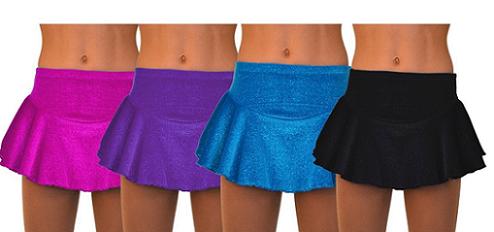 ChloeNoel Circle York Sparkle Velvet Skirt