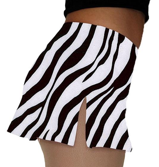 ChloeNoel A-line Skate Skirt (Zebra)