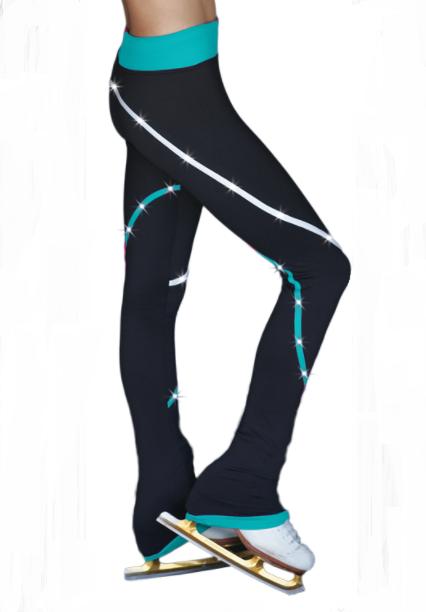 ChloeNoel Fleece Spiraaliköynnöshousut CRYS (Turkoosi)