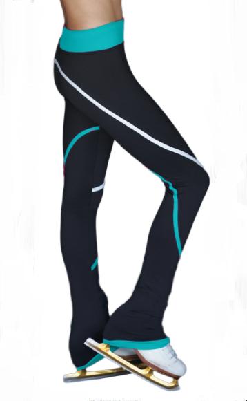 ChloeNoel Fleece Spiraaliköynnöshousut (Turkoosi)