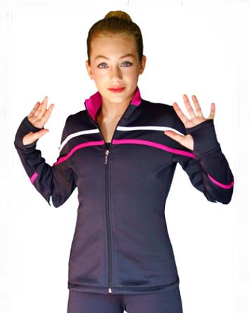 ChloeNoel Fleece Spiraaliköynnöstakki (Fuksia)