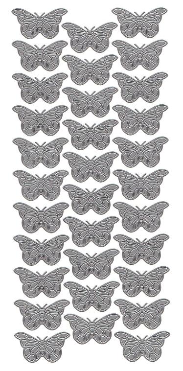 Ät perhoset hopea 10716(kaareva siipi) 2x3,3cm, 32kpl