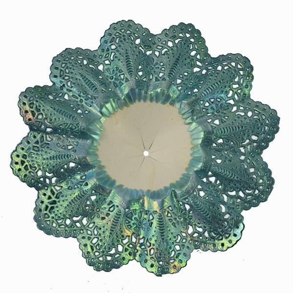 Biedermeier murrettu sininen 16cm (bied4)