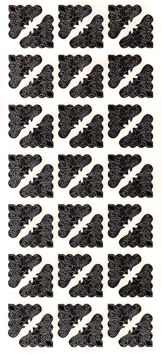 ÄT sirot kulmat musta (1017) 2x2cm (42kpl)