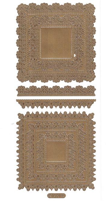 ÄT pitsineliö kulta (1291) 4-9cm