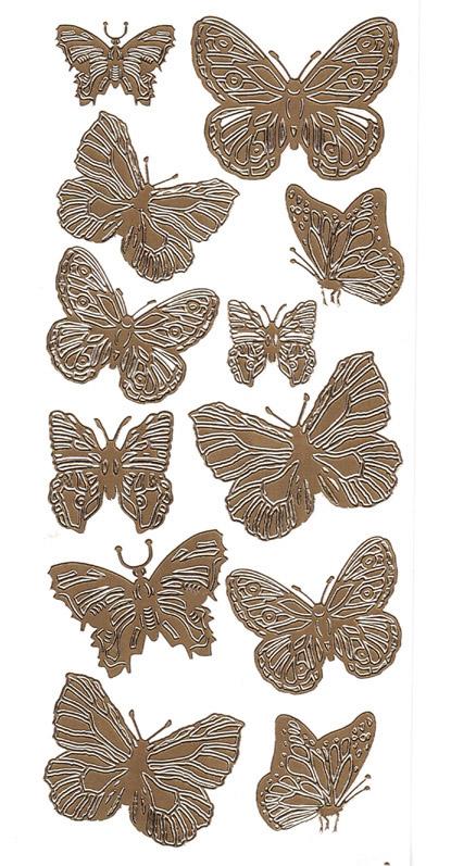 Ät isot perhoset kulta 2541776 (12perhosta)