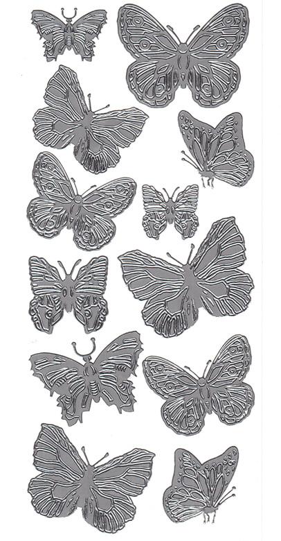 Ät isot perhoset hopea 2541776 (12perhosta)