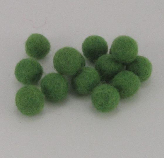 10mm villapallo vihreä (24K) 20kpl