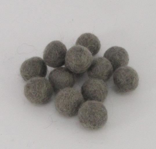 10mm villapallo harmaa (54) kappaleittain