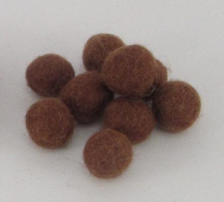 10mm villapallo ketunruskea kappaleittain