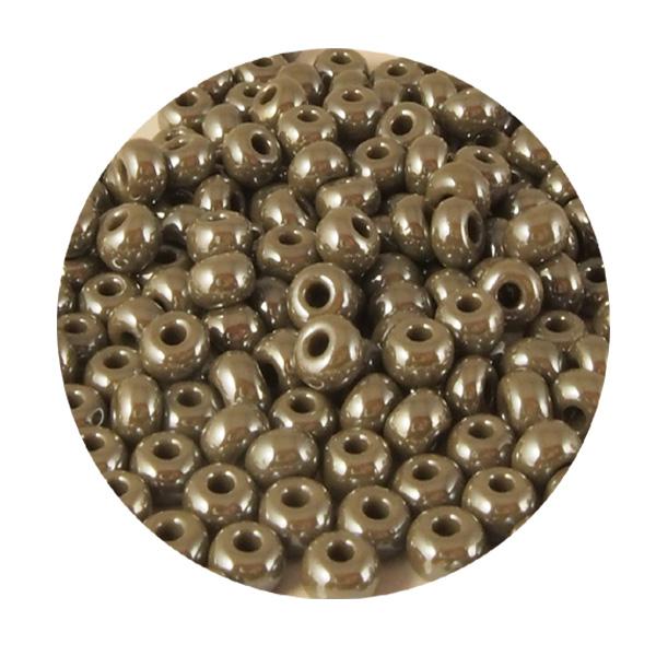 Lasihelmet pienet 6/0 metallinharmaa (n.2 tl)