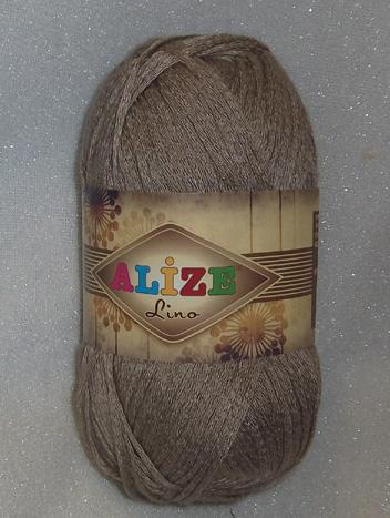 Alize lino 50g tumma beige 626 (25% pellava, 75% viskoosi)