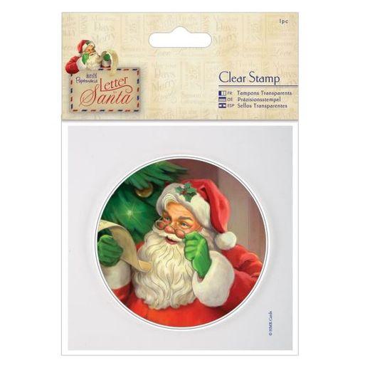 Akryyli joulupukkileimasin pyöreä n.9cm (907919)