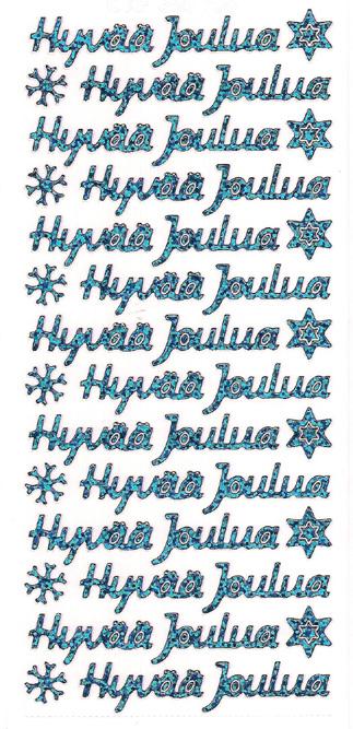 ÄT Hyvää Joulua turkoosin sininen 358706 (14 tekstiä)