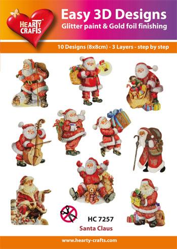 HC Santa claus HC7257 3d-pakkaus (10 erilaista)