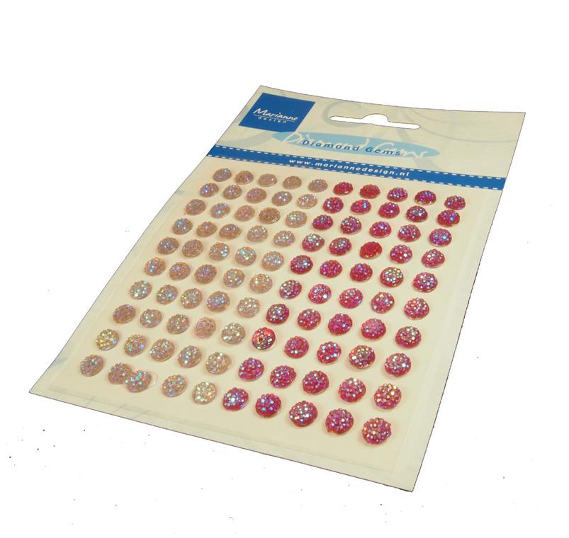 MD helmenpuolikkaat tarralla vaalpun (JU0937) 6mm 100kpl