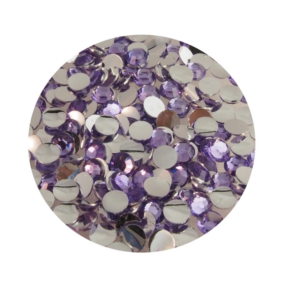 Liimattava strassi lila (3mm n.200kpl)