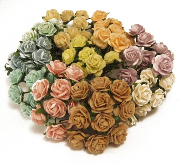 10mm ruusut lajitelma pastellisävyt 100kpl