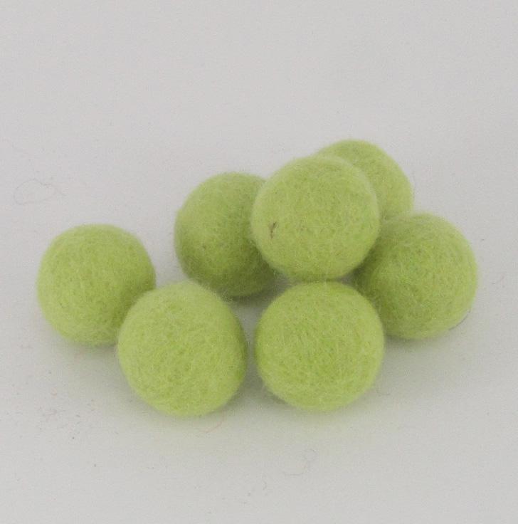 Villapallo 25mm vaaleanvihreä (8kpl)