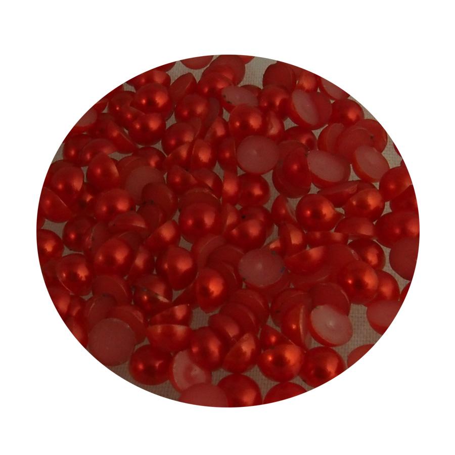 Liimattava puolihelmi joulupunainen  4mm n.200kpl