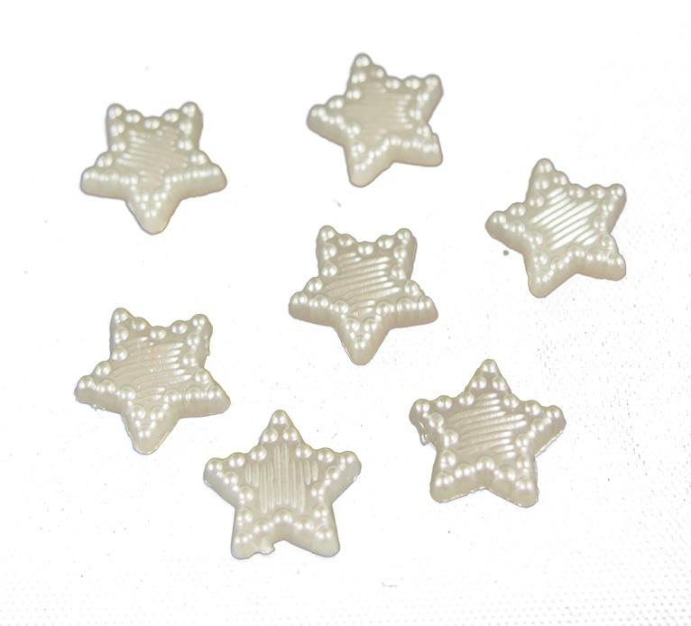 Tähtikoriste litteä valkea 11mm 40kpl