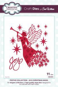 CED3016 stanssi Christmas Angel (enkelin pituus n.14cm)