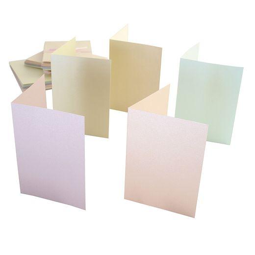 Anita´s helmiäiskorttipohjapakkaus A6 kortit+kuoret 50kpl (105x148mm 2