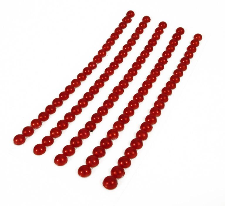 Puolihelmi 5mm punainen yhtenäinen tarranauha