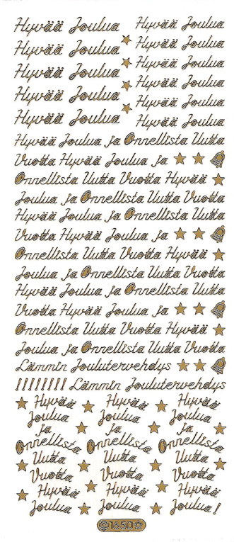 ÄT pienet joulutekstit kulta (1650)