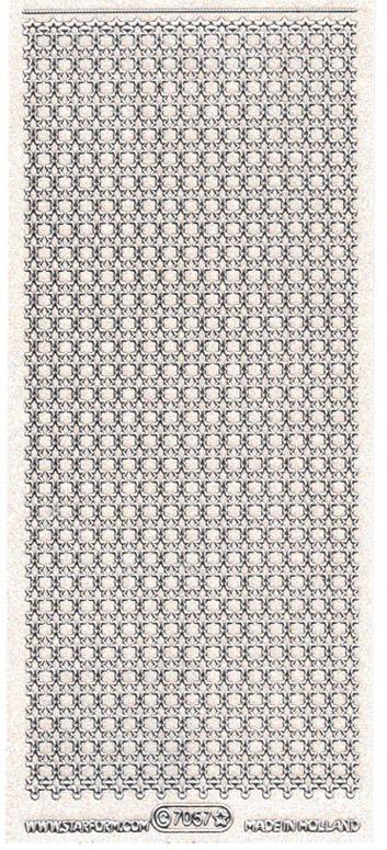 ÄT tähtinauha transparent-glitter-hopea 7057VH