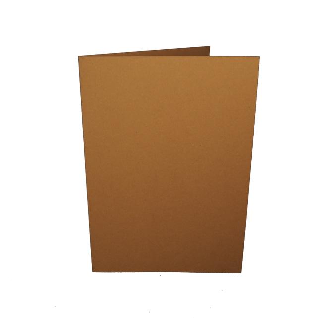 A6 korttipohja ruskea 10kpl