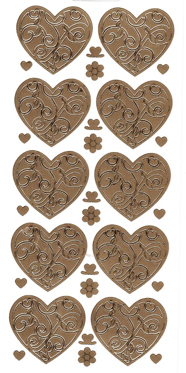 ÄT sydän kulta (190000) 4,5x4cm, 10sydäntä
