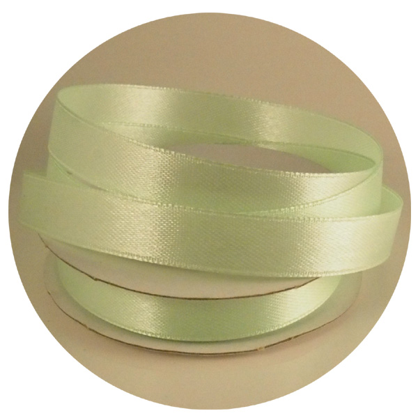 Satiininauha vaaleanvihreä 10mm x10m (rll)