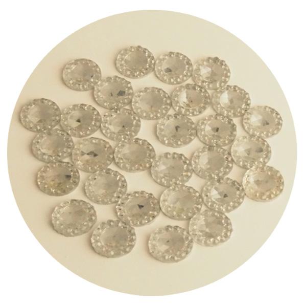 Liimattava strassikoriste pyöreä kirkas/hopea 8mm n.30kpl