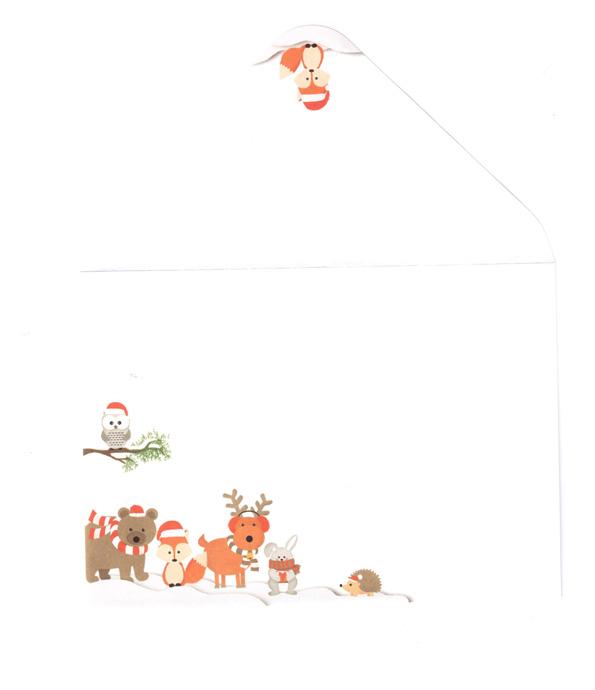 JK joulukirjekuori  Jouluneläimet C610kpl