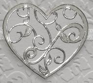 ÄT sydän hopea (190001) 4,5x4cm, 10sydäntä