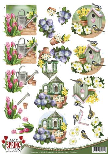 Amy design kevät leikattava 3d-kuva A4