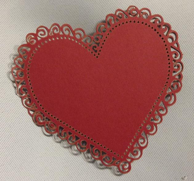 JK askartelukuvio sydän punainen 5kpl