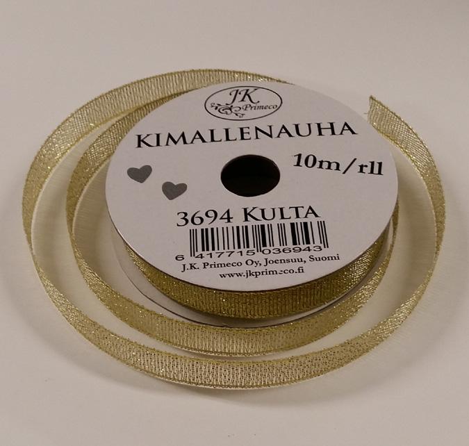 JK Kimallenauha kulta 10mmx10mm rll