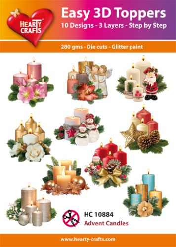 Hearty crafts helpot 3d-kuvat Advent candles 10kpl