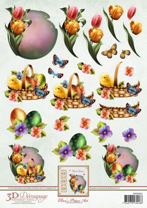 Leikattava 3d-kuva pääsiäinen
