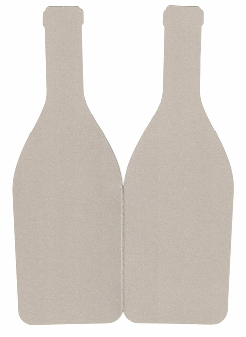 JK korttipohja pullo helmiäisshampanja 2-os 21cm 5kpl