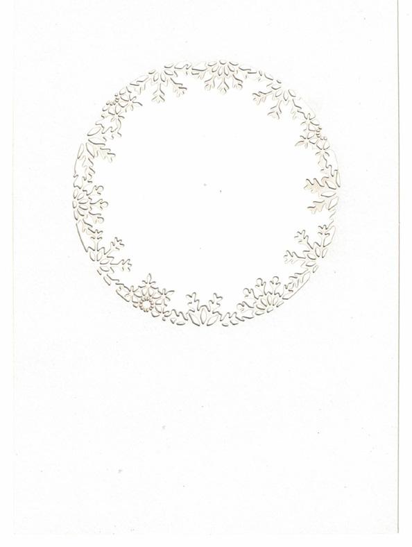 JK koristekortti lumihiutaleaukko valkea 5kpl A6