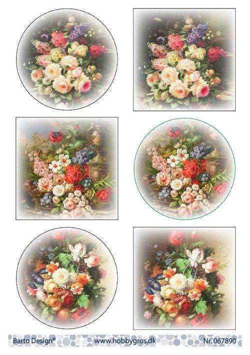 Barto design korttikuvat kukat A4